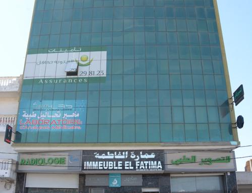 Façade vitrée externe pour immeuble