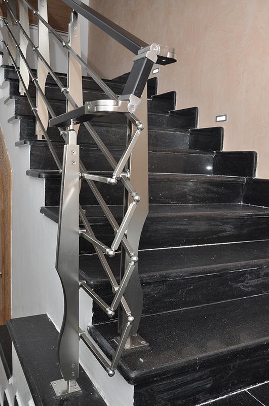 Rampes d\'escalier moderne en aluminium – Comptoir Bois Aluminium